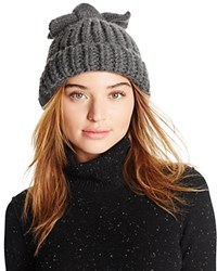 Federica Moretti Knit Hat With Bow Gray