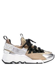Pierre Hardy Colour Block Sneakers Gold
