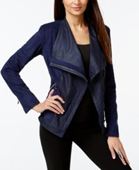 Vakko For Inc International Concepts Faux Suede Asymmetrical Motorcycle Jacket Only At Macy's