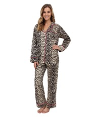 Bedhead Classic Sateen Pj Wild Thing Women's Pajama Sets Brown