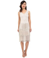 Unique Vintage Beaded Gigi Flapper Dress White Women's Dress