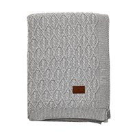 Gant Trellis Knit Throw Grey