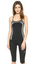 Solow Colorblock Racer Back Cami Heather Charcoal Black Grey