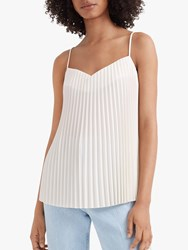 Club Monaco Pleated Front Cami Top Ivory