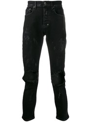 Prps Ripped Skinny Jeans Black