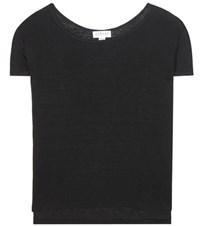 Velvet Addie Linen T Shirt Black