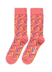 Happy Socks 'Fence' Squiggle Multi Colour