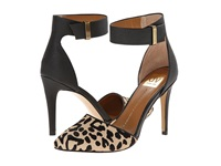 Dolce Vita Odetta Leopard Black Calf Hair High Heels Animal Print