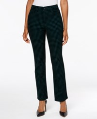 Charter Club Lexington Printed Straight Leg Jeans Created For Macy's Dark Mod Teal