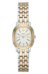 Kate Spade New York Staten Bracelet Watch 25Mm Gold White Silver