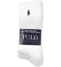 Ralph Lauren Ribbed Cotton Socks Pack Of Three White