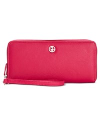 Giani Bernini Softy Slim Zip Around Wallet Only At Macy's Raspberry