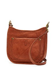Frye Campus Rivet Leather Crossbody Bag Saddle