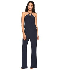 Laundry By Shelli Segal Sleeveless Jumpsuit Dark Sapphire Women's Jumpsuit And Rompers One Piece Blue