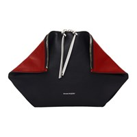 Alexander Mcqueen Black And Red Butterfly Pouch