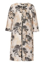 Vera Mont Printed Satin Dress Coat Grey