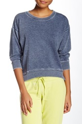 Central Park West The Foster Cropped Tee Blue