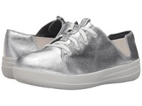 Fitflop Sporty Lace Up Sneaker Silver Women's Lace Up Casual Shoes
