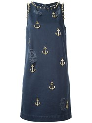 Marco Bologna Spike And Anchor Embellished Dress Blue