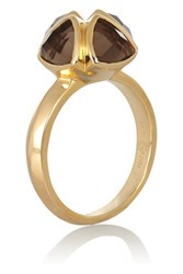 Katie Rowland Salome Gold Tone Quartz Ring
