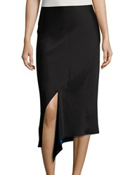 Dkny Reversible Asymmetric Skirt Black Blue
