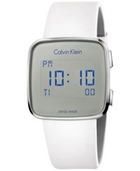 Calvin Klein Men's Swiss Digital Future White Rubber Strap Watch 39Mm K5c21um6
