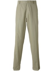 Etudes Loose Fit Tailored Trousers Men Cotton Linen Flax 44 Green