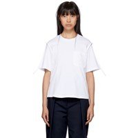 3.1 Phillip Lim White Patch Pocket T Shirt