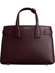 Burberry The Small Banner In Leather Red