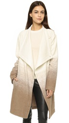 Bb Dakota Emerson Ombre Fuzzy Wool Coat Churro