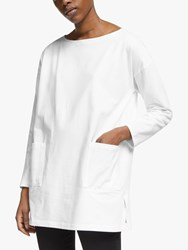 Eileen Fisher Organic Cotton Tunic Top White