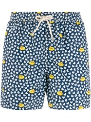 Mc2 Saint Barth Micro Duck Print Swim Shorts Blue