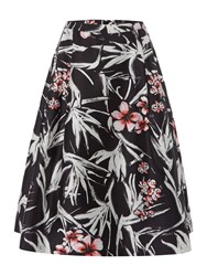 Pied A Terre Full Printed Twill Skirt Multi Coloured