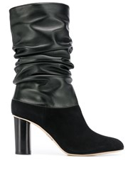 Rodo Ruched Mid Calf Boots Black