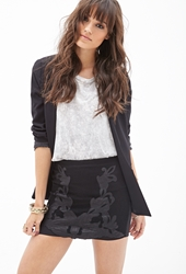 Forever 21 Faux Leather Baroque Skirt