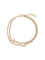 Dsquared2 Cross Chain Bracelet Gold