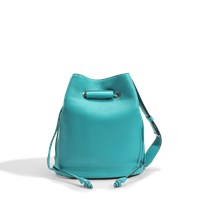 Lancel Le Huit L Bucket Bag In Turquoise Grained Leather
