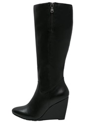 Pier One Wedge Boots Black