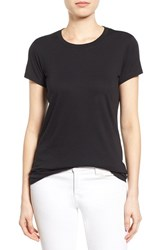 Women's Halogen Short Sleeve Crewneck Tee Black