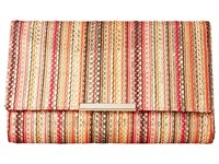 Jessica Mcclintock Nora Vertical Stripe Clutch Pink Multi Clutch Handbags