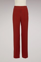 Etro Silk Pyjama Pants Red Stripe