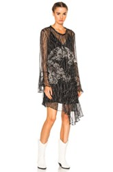 Iro Gypsy Dress In Abstract Black White Abstract Black White