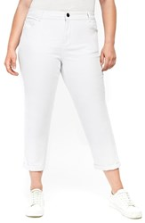 Evans Plus Size Girlfriend Jeans White