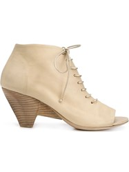 Marsa Ll Lace Up Booties Nude And Neutrals