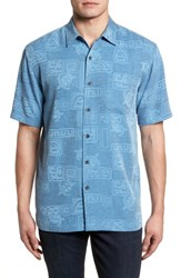 Kahala Sea Shells Classic Fit Sport Shirt Wave