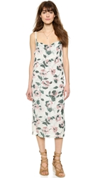 Suno Cowl Tank Dress All Over Floral Knit