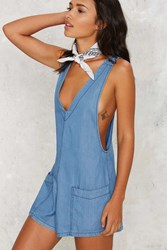 Zee Gee Why Cheeky Rider Chambray Romper