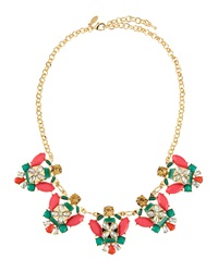 Greenbeads By Emily And Ashley Multi Shaped Cluster Bib Necklace