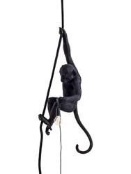 Seletti Monkey On A Cord Ceiling Lamp Black