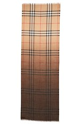 Burberry Women's Ombre Check Wool And Silk Scarf